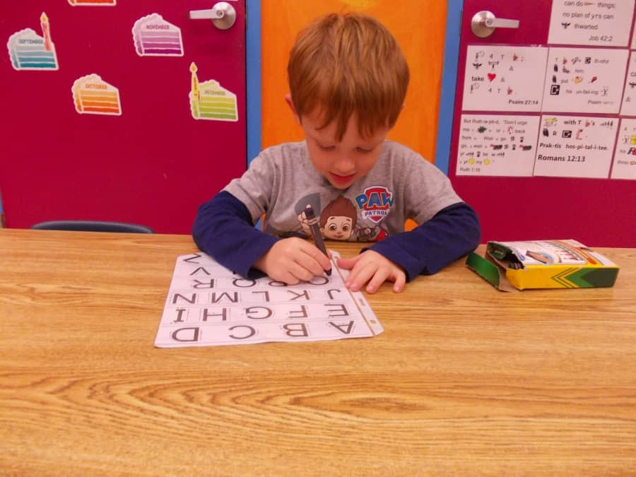 Kiddie Prep School | Writing Letter | Fort Wayne Preschool