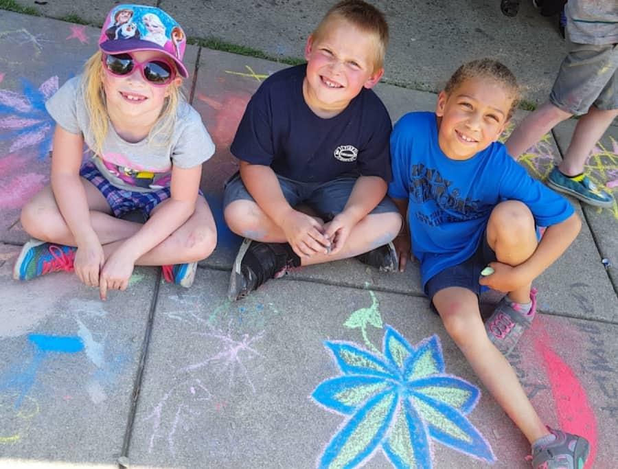 Kiddie Prep School | school age sidewalk chalk | fort wayne preschool